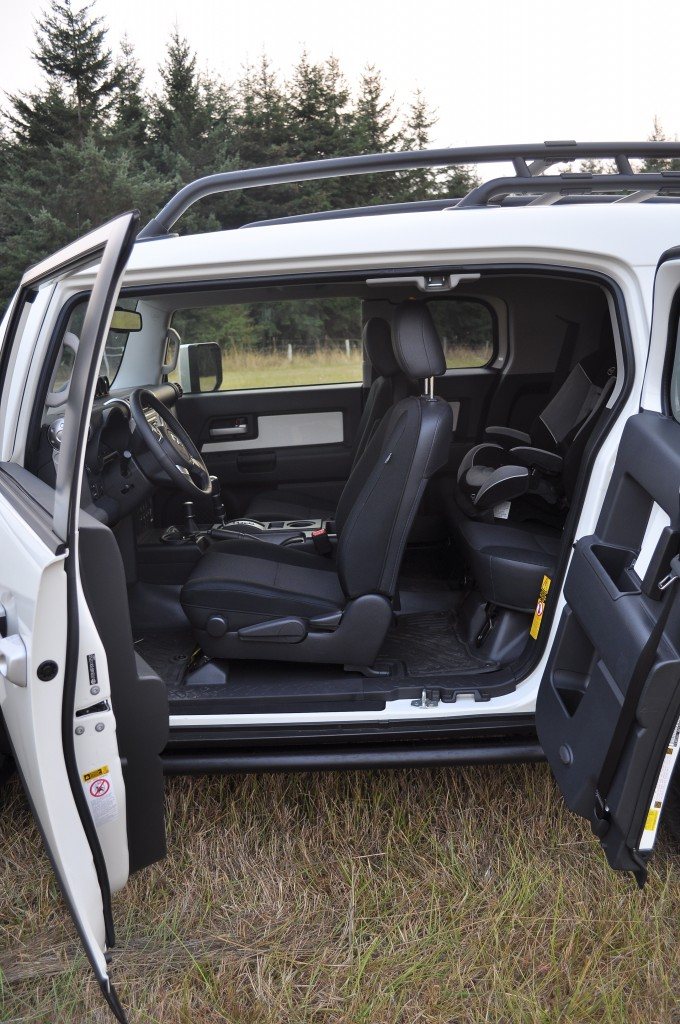 Toyota FJ Cruiser with carseat installed
