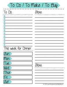 Weekly Menu Planner